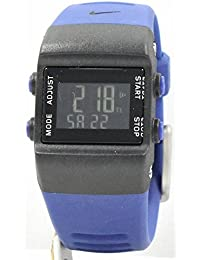 Nuevo Nike niños Arandela Negro Azul wk0015Digital Cronógrafo Reloj de pulsera deportivo