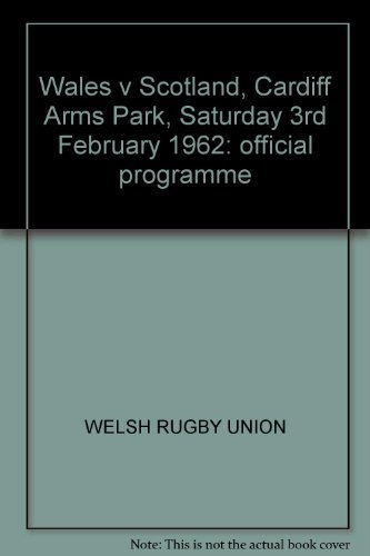 Wales v Scotland, Cardiff Arms Park, Saturday 3rd February 1962: official programme