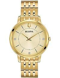 Bulova de Acero Inoxidable Reloj de Pulsera en Color Dorado Classic de Mujer con Detalles en