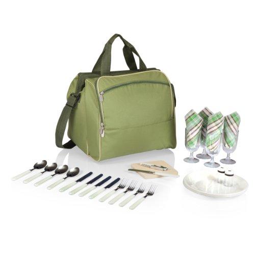 picnic-time-verdugo-isolierte-picknick-kuhlbox-mit-service-deluxe-fur-vier-green