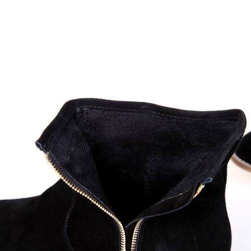 Alexis Leroy collezione, Stivaletti Chelsea in camoscio con zip donna Nero