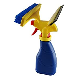 3in 1kit di utensili per pulizia finestre, Homeyoo lavavetri con spray da 300ml Bottiglia, lavavetri, rondella testa e spazzola di pulizia in microfibra per pulizia auto, finestre, vetri, porte, auto parabrezza Blue