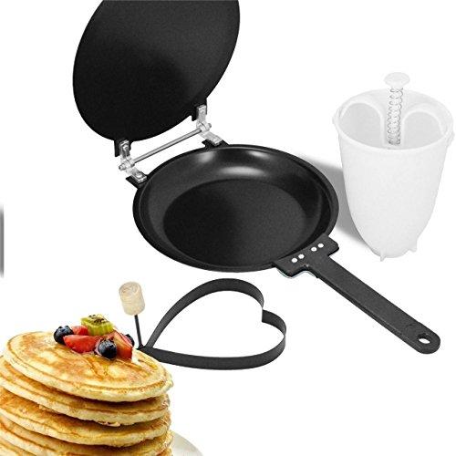 Antiadherente sartén para tortitas con tapa perfecto de desayuno huevos Tortilla Flipjack eléctrica herramientas