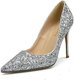 HN Shoes Zapatos De Tacón para Mujer,Clasico Resbalon En Zapatos De Tacón con Punta Cerrada para Mujer Vestido...