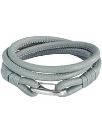 Rafaela Donata Unisex-Armband Edelstahl Leder 60907022