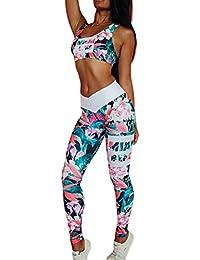 Morbuy Ensemble Sport Yoga, Femmes Vest Top et Leggings Jogging Yoga Gym Fitness Survêtement Haute élasticité Tenue de Sport Causal Sportswear Tenues