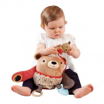 Qualitäts-Baby- Hug und ausblenden Tier Hund Eule Bär Affe Schaf Plüsch Beißring
