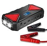 Awsgtdrtg 600A Peak 13500Mah Coche Portátil Salto De Arranque, Batería De Emergencia Booster Pack, Pantalla LCD, Y Linterna LED para Tablet Teléfono Portátil Y Más