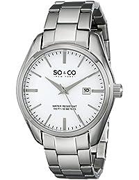 SO & CO New York 5101.1 - Reloj cuarzo hombre correa de acero inoxidable plateado