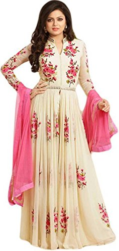 Women\'s Clothing Semi-Stiched New Arrival Fancy Anarkali Banglori Silk and Soft Net Salwar Suit With Duppata