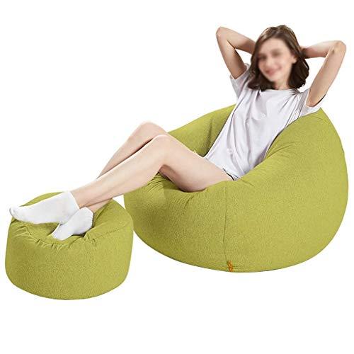 YXNN Sitzsack Mit Fußstütze - 120cm X95cm - Indoor Und Outdoor Lazy Couch Tragbare, Abbaubare, EPS-gefüllte Lounge-Sessel, Wohnzimmer, Sitz, Spiel, Liegefläche (Farbe : Grün) (Outdoor-der Modernen Osmanischen)