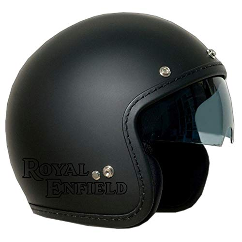 BRIXIA CASCO JET OLD ONE NERO SATINATO VISIERA FUME' LOGO ROYAL ENFIELD NERO XL