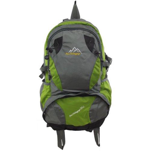 UKFS Außen 35 Liter Wanderrucksack / Sport Reisen Camping Kletter Tasche / Rucksack (Orange) Grün