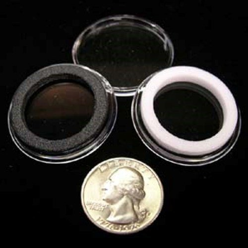 10 Black Ring Type 30mm Air Tite Coin Holders for Half Dollars by Air Tite