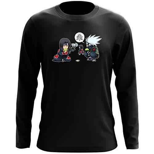 T-Shirts à manches longues Naruto parodique Kakashi Itachi : Combat de Ninjas ! (Parodie Naruto)
