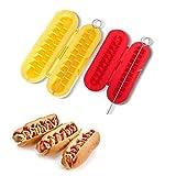 Honana CF-HS02 2Pcs/Imposta BBQ griglia Spirale Hot Dog Salsiccia Affettatrice Affettatrice Pane da Forno Strumento di Carne Dispositivo