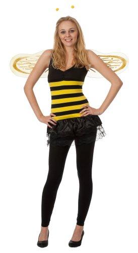 r-dessous Biene Maja Kostüm Bienen mit viel Zubehör 3 tlg ideal für Karneval, Fasching und Kostümparty Groesse: S/M
