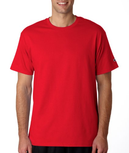 Champion -  T-shirt - Asimmetrico - Uomo Scarlet