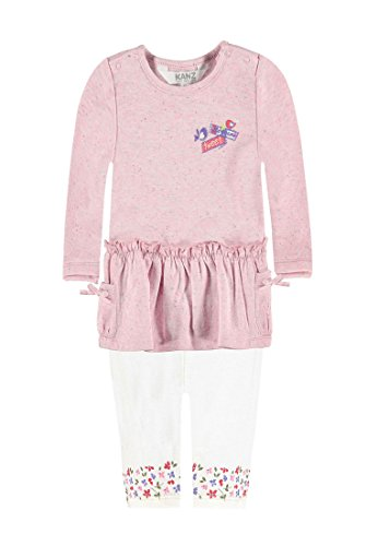 Kanz Kleid 1/1 Arm + Leggings, Set Bambina, Rosa (Prism Pink 2160), 80