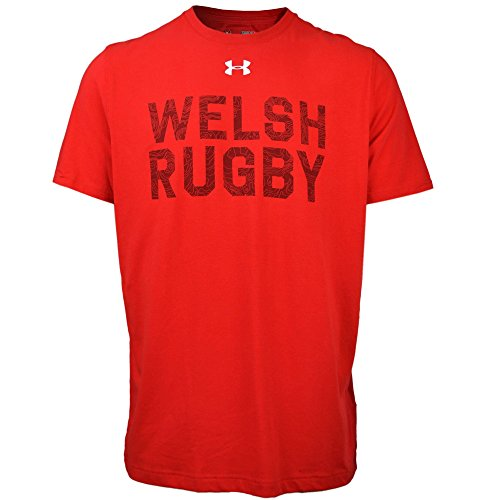 Under Armour Wales WRU 2017/19 Graphic Rugby T-Shirt - Red