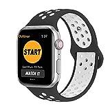 SYOSIN für Apple Watch Armband 38mm 40mm 42mm 44mm, Gewobenes Silikon Sport Schlaufe Handgelenk...