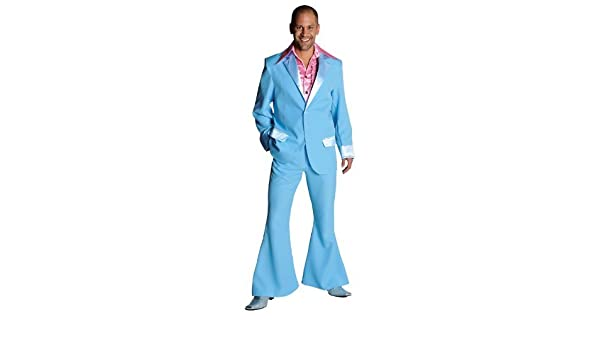 8c39cb81848c Adult Mens 70s Suit Baby Blue Large Fancy Dress: Amazon.co.uk: Clothing