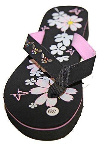 Infradito sandali infradito tacco compensato donna pierre-cedric Rosa