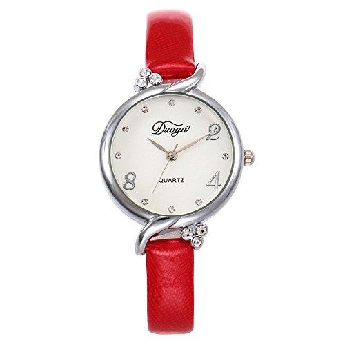 Uhr Women's Casual Quartz Silicone Strap Band Watch Analog Wrist Watch Damen Analoge Dekorative Uhr Quarz Uhren für Damen Fitness Armbanduhr B Womens Multi Strap