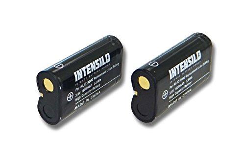 INTENSILO 2x Li-Ion Akku 1600mAh (3.6V) für Kamera Camcorder Video Kodak EasyShare ZX1 HD Camcorder wie Klic-8000, DB-50.