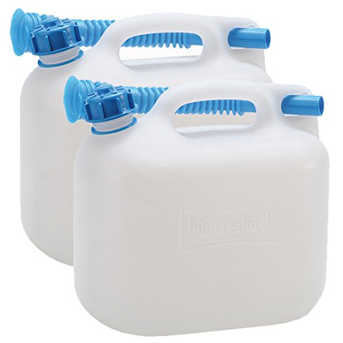 2 Wasserkanister ECO 6 Liter im 2er Set Fassungsvermögen mir blauen Auslaufrohr