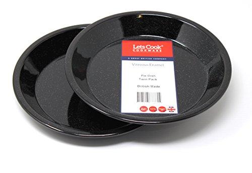 Lets Cook Cookware Kuchenform aus Glasemail, Doppelpackung, 22 cm, hergestellt in Großbritannien -