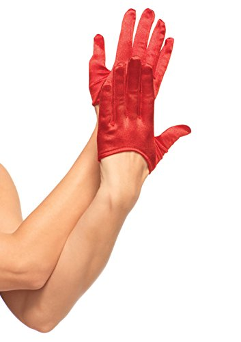 Leg Avenue rot Satin Mini Crop Fashion Handschuhe–2137