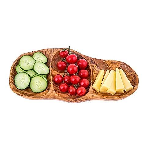 Plat de service en bois d'olivier ou plateau en bois,