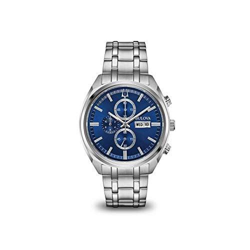 3794073406ae Bulova para Hombre Reloj crongrafo de Acero Inoxidable Esfera Azul 96c136