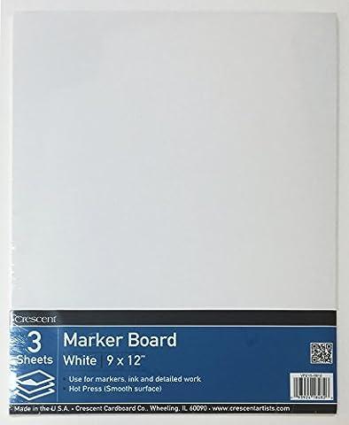 Crescent Cardboard Co Hot Press Marker Board Value Pack -9-inch