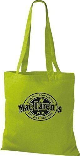 ShirtInStyle Stoffbeutel HOW I MET YOUR MOTHER MAC LAREN`S IRISH PUB diverse Farbe kiwi