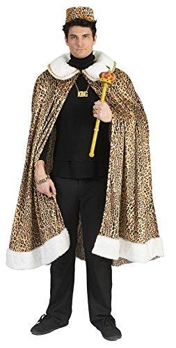 Dschungel Königsumhang für Herren - Schön zum Häuptling Kostüm mit Leopardenmuster (Zulu Krieger Kostüm)