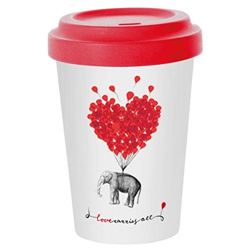 PPD Love Carries All Bamboo Coffee-To-Go Becher, Kaffeebecher, Pappbecher, Trinkbecher,...