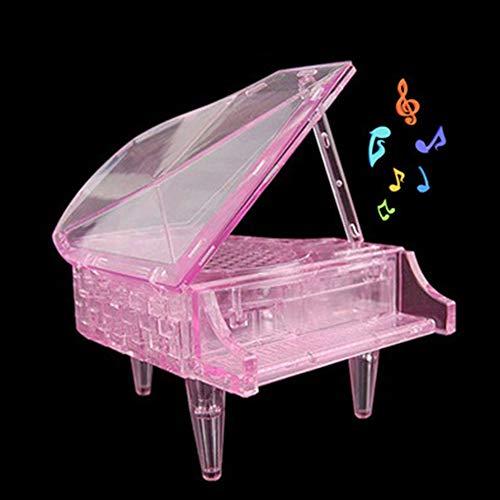 Hanbaili Das Klavier DIY Montieren with Kunststoff Musik Hobby Dekoration (Klavier-musik-dekorationen)