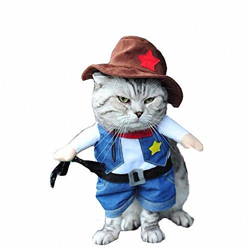 proomi Funny Hund Katze Uniform Haustier Kleidung Kostüm Kleid Cosplay für (Dragon Kostüme Katze)
