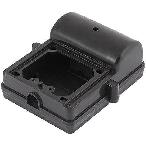 Negro dual plástico protector de la caja de conexiones del condensador 95mm x 75mm
