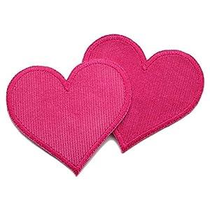 Set 2 Cordflicken Herz Patch Flicken zum aufbügeln für Mädchen
