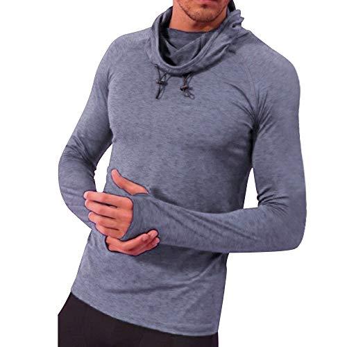 Sport Pullover Herren Briskorry Männer Herbst Winter Hooded Sweatshirt Lose Solide Kapuzenshirt Winterpullover Freizeitjacke Outwear Bluse