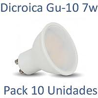 Bombilla LED GU-10 Dicroica 7w 4000ºk (luz neutra) [Pack 10 Unidades]