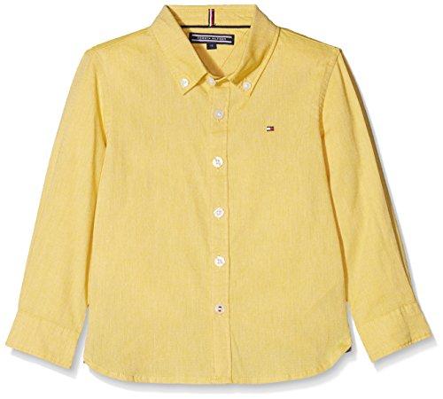Tommy Hilfiger Jungen Hemd Ame Stretch Oxford Shirt L/S, Gelb (Freesia 708), 140 (Herstellergröße: 10) (Gelb-oxford-hemden)