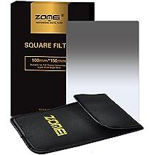 ZOMEi 100x150mm ND2 Z-PRO Serie Filtro Cuadrado Gradual Filtro de Densidad Neutra Gray Compatibles con el Sostenedor de Cokin Z Lee Hitech '4X6'