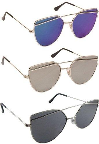 Sheomy Aviator Unisex Combo Of 3 Sunglasses(3In1-0043)