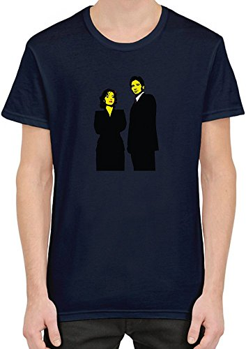 mulder-and-scully-stencil-t-shirt-per-uomini-xx-large