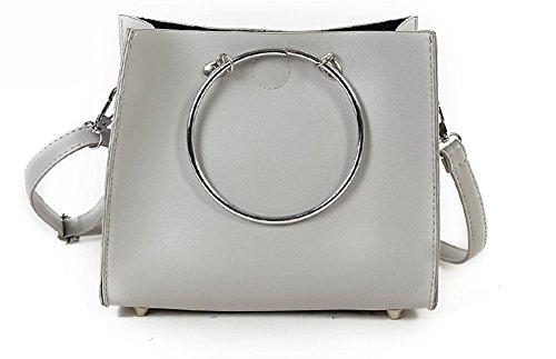 HERME , Damen Umhängetasche grau grau (Tote Handmade Purse Bag Handtasche)