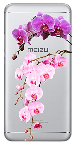 Mixroom - Cover Custodia Case In TPU Silicone Morbida Per Meizu M5s T651 Orchidea